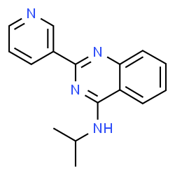 ChemSpider 2D Image | N-Isopropyl-2-(3-pyridinyl)-4-quinazolinamine | C16H16N4