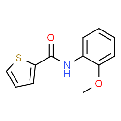 ChemSpider 2D Image | N-(2-Methoxyphenyl)-2-thiophenecarboxamide | C12H11NO2S
