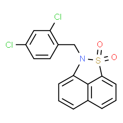 ChemSpider 2D Image | 2-(2,4-Dichlorobenzyl)-2H-naphtho[1,8-cd][1,2]thiazole 1,1-dioxide | C17H11Cl2NO2S