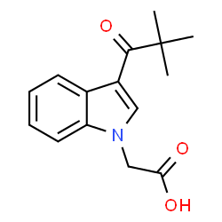 ChemSpider 2D Image | [3-(2,2-Dimethylpropanoyl)-1H-indol-1-yl]acetic acid | C15H17NO3