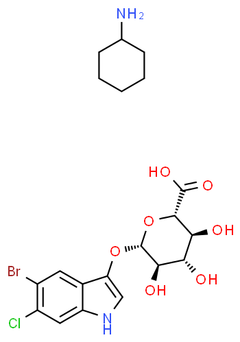 5-Bromo-4-chloro-3-indolyl ß-D-glucuronic acid CHA